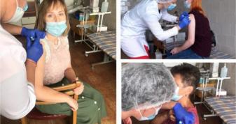 Епідеміологи трьох районів на Волині вакцинувалися від  COVID-19