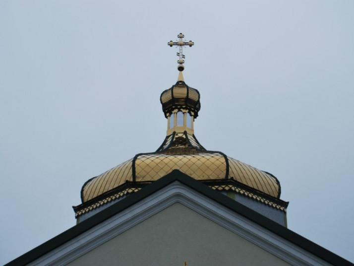 Купол Свято-Миколаївської церкви у селі Скобелка Горохівського району