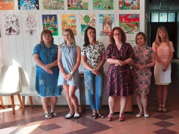 У Горохові презентували картини створені юними художниками