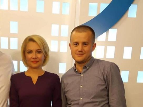 Віталій Пудлік разом з телеведучою Ларисою Андрійчук