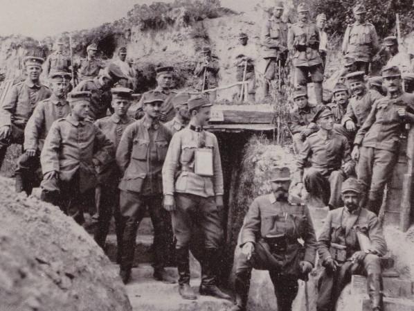 Солдати австро-угорської армії у селі Буркачі