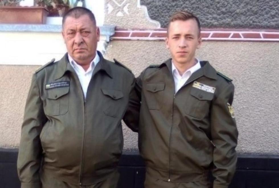 Юрій Мельничук із сином Ігорем