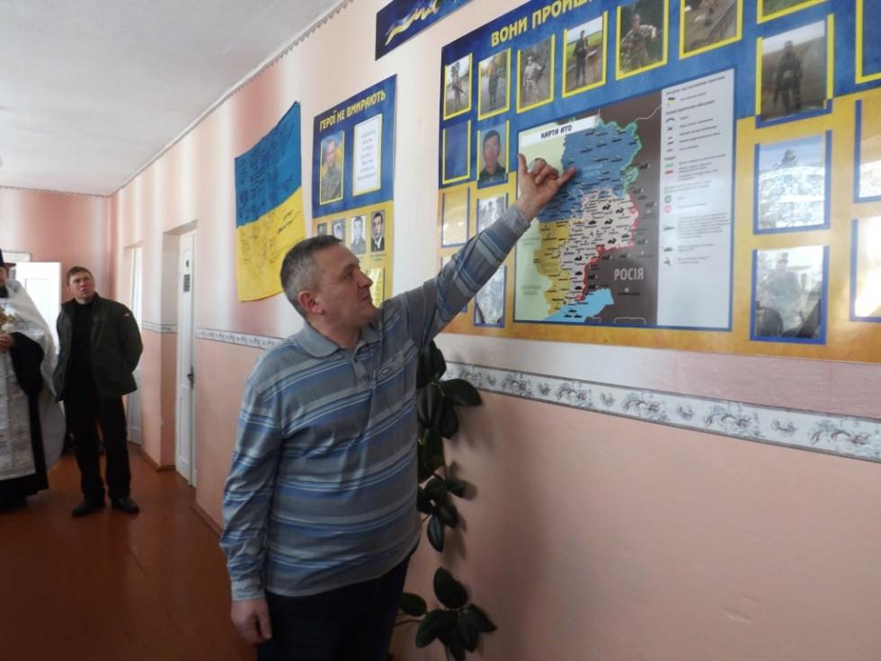 Олег Дмитрук розповів учням про свої бойові дороги