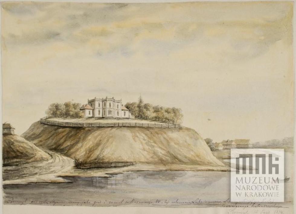 Перемильський палац на малюнку Наполеона Орди