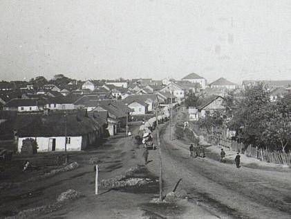 Кінний обоз австро-німецьких військ на вулиці міста