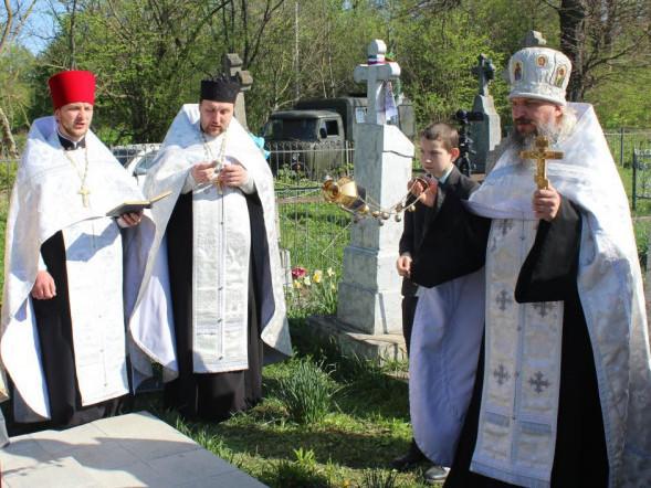Панахиду очолив благочинний Горохівської округи УПЦ протоієрей Валерій Пилипчук
