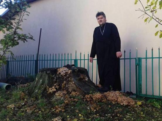 Андрій Сидор біля грибного місця