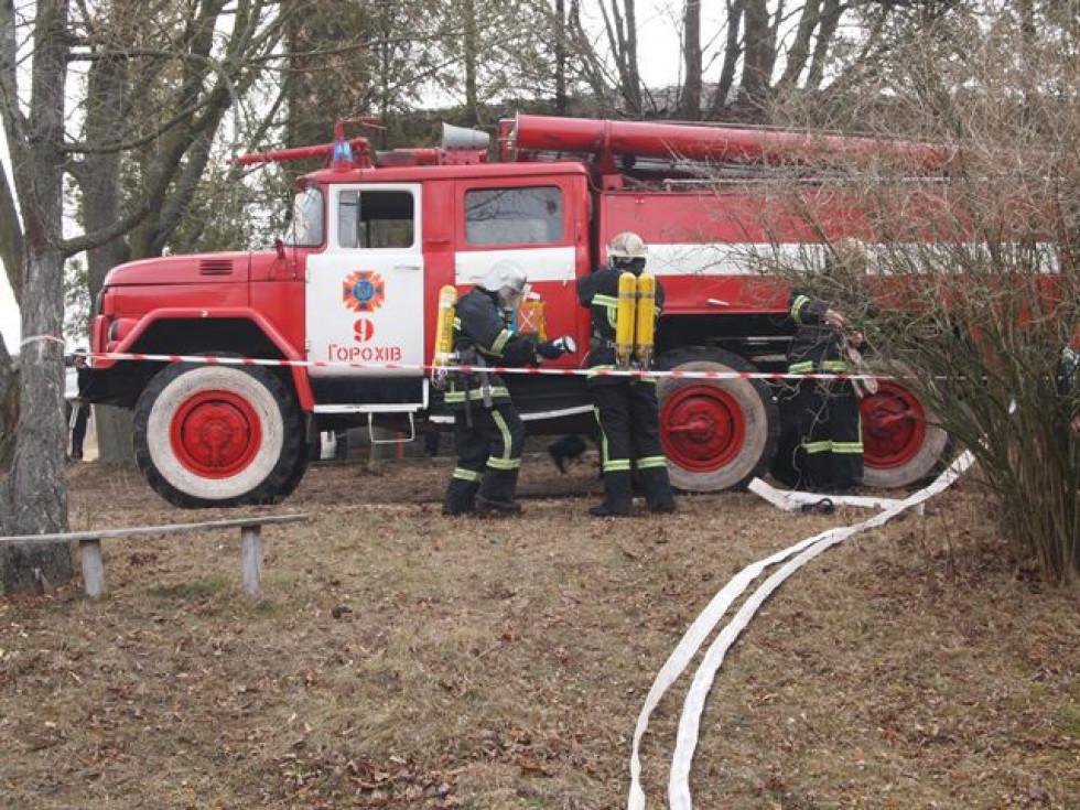 Пожежники на навчанні