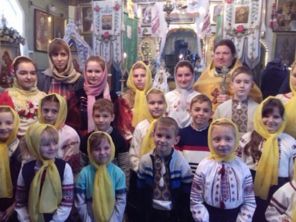 Як на Горохівщині учні недільної школи вітали з Миколаєм