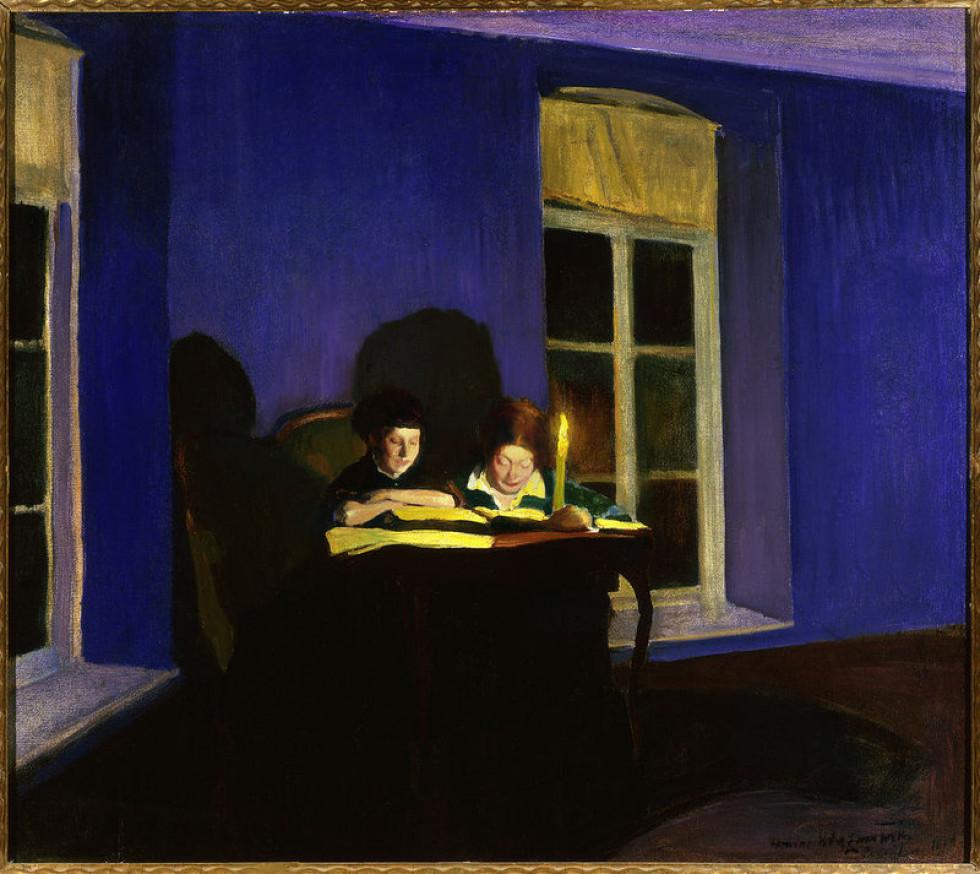При світлі, село Перемиль, 1916 р. Автор Михайлина Кжижановська