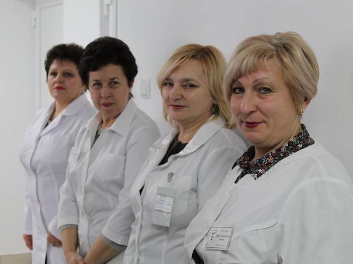 Працівниці лікарні на відкритті