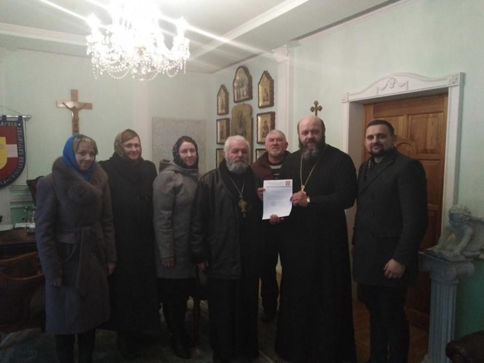 Делегація з Галичан в Управлінні Волинської єпархії ПЦУ