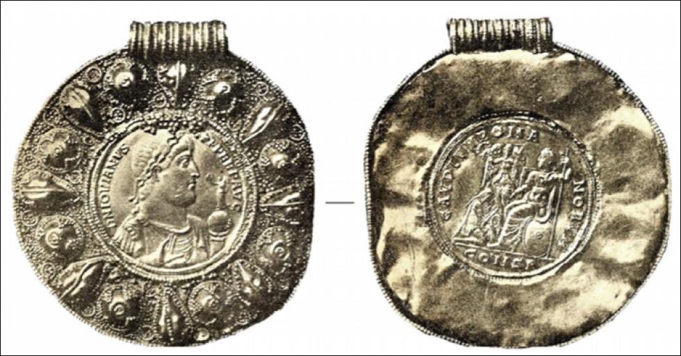 Золотий медальйон Клавдія Йовіана