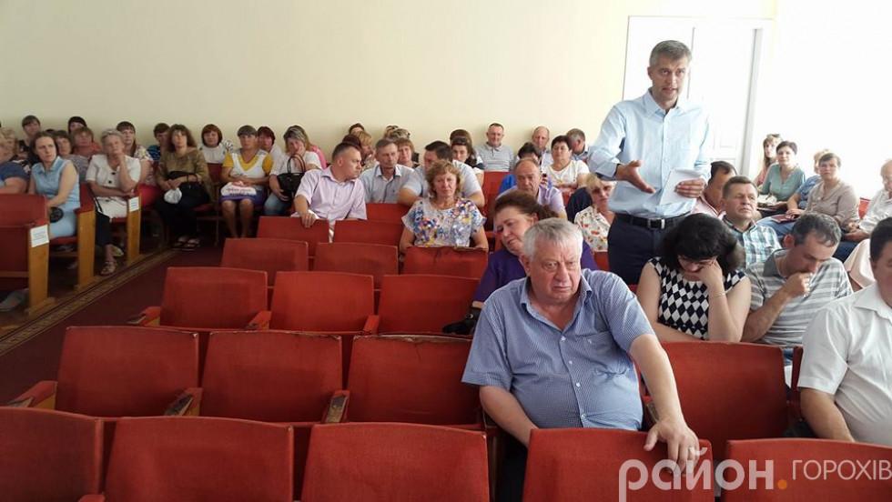В'ячеслав Рубльов приїхав у Горохів підтримати однопартійку