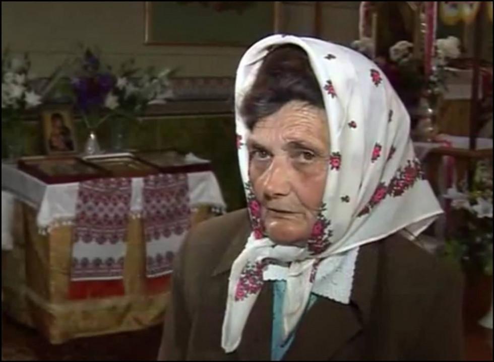 Ганна Бабій дає інтерв'ю телеканалу «Аверс»