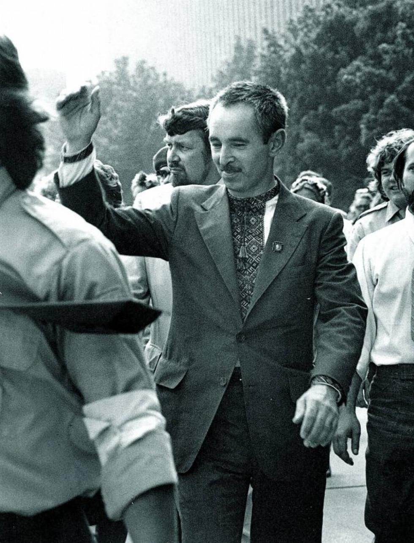 Валентин Мороз після звільнення. Торонто, Канада. 1979 рік