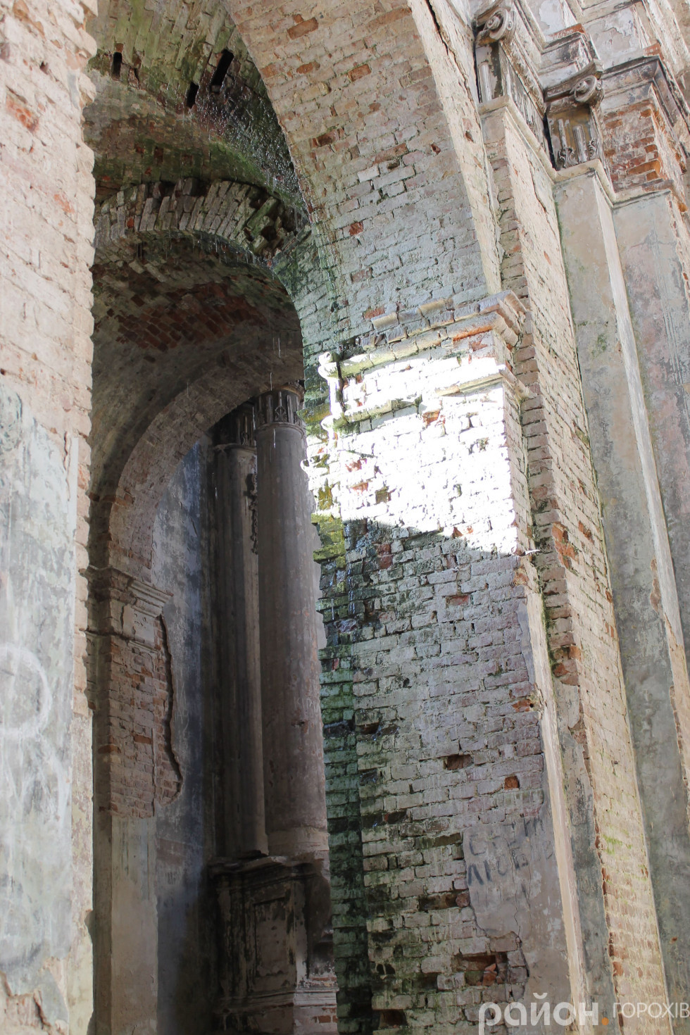 Стіна позеленіла від вологи