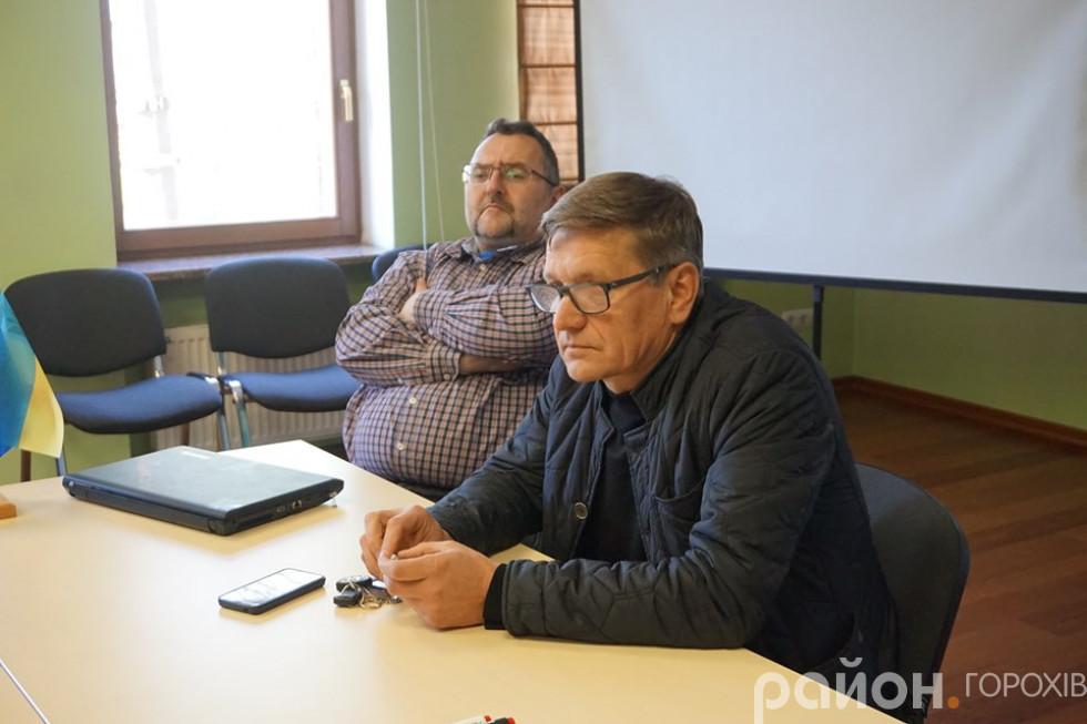 Експерти Волинського центру розвитку місцевого самоврядування Анатолій Пархом'юк та Анатолій Матвіюк