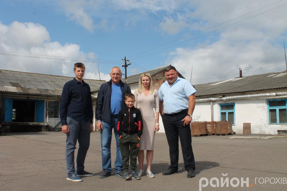 Родина Захарчуків і голова районної ради Тарас Щерблюк
