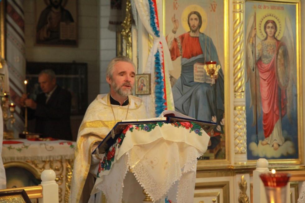 Отець Павло Кліцук на Богослужінні. Фото Волинської єпархії ПЦУ