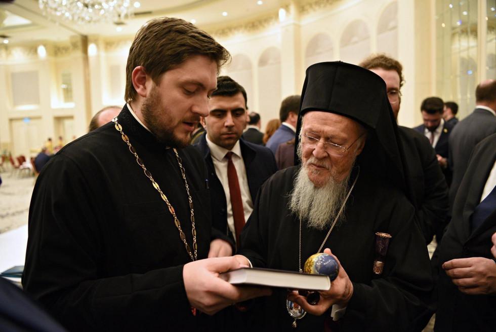 Іван Сидор з Вселенським патріархом Варфоломієм